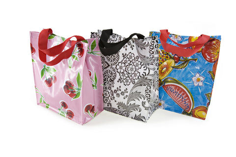 Oilcloth Lunch Tote with handles
