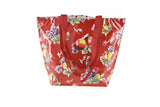Reversible Oilcloth Totebag - Red Apples and Pears