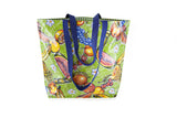 Reversible Oilcloth Totebag - Green Tropical Splash
