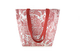 Reversible Oilcloth Totebag - Red Toile