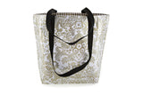 Reversible Oilcloth Totebag - Gold Toile
