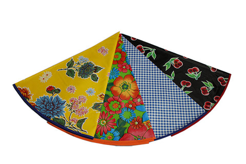 "47"" Round Custom Oilcloth Tablecloth"