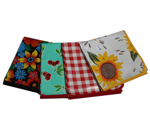 "102"" x 47""  Custom Oilcloth Tablecloth"