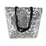 Reversible Oilcloth Totebag - Black and White Toile