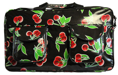 Oilcloth Weekender Bag - Black Cherry