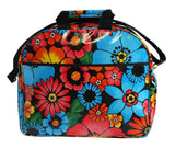 Oilcloth Carryall Bag in Black Flora