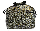 Oilcloth Carryall Bag - Gold Cheetah