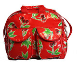 Oilcloth Carryall Bag - Red Cherry