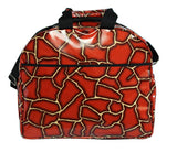 Oilcloth Carryall Bag - Red Giraffe