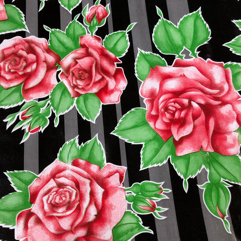 Cottage Rose Oilcloth Fabric