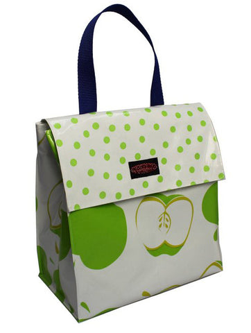 Oilcloth Insulated Lunch Bag - Green Apple