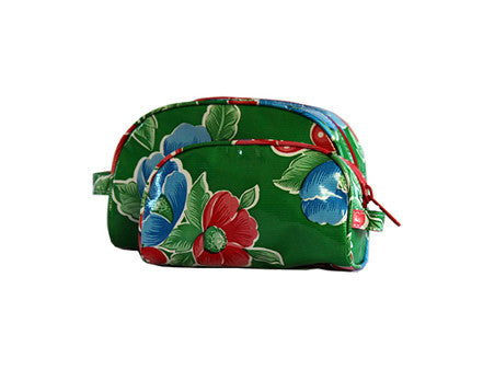 Green Poppy Oilcloth Cosmetic Bag Collection