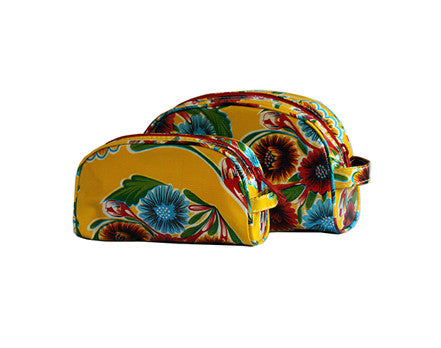 Yellow Spring Bloom Oilcloth Cosmetic Bag Collection