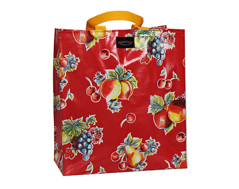 Oilcloth Shopping Bag - Red Apples and Pears