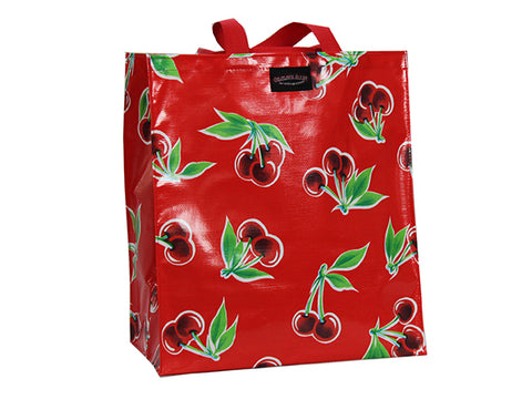 Oilcloth Shopping Bag - Red Toile