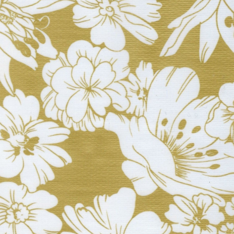 Gold Chantilly Oilcloth Fabric