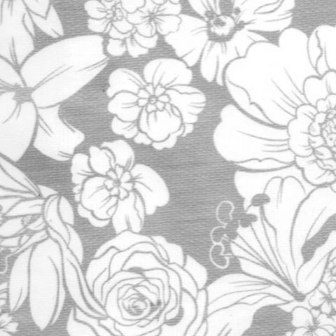 Silver Chantilly Oilcloth Fabric
