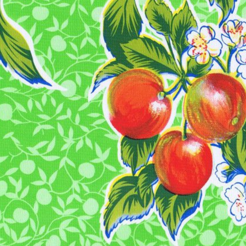 Lime Summer Fruit Oilcloth Fabric
