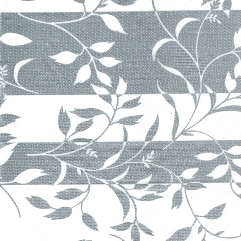Silver Spanish Vines Oilcloth Fabric