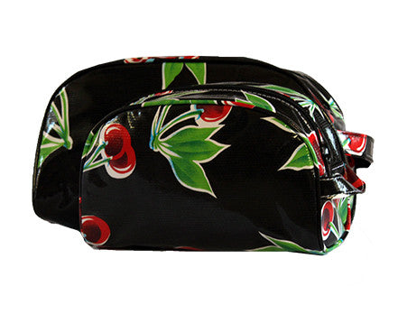 Black Cherry Oilcloth Cosmetic Bag Collection