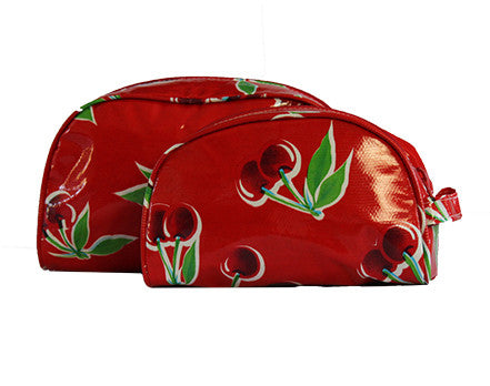 Red Cherry Oilcloth Cosmetic Bag Collection