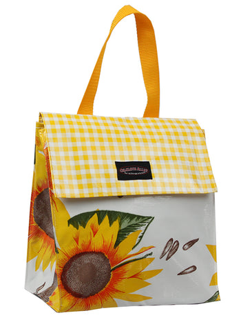 Oilcloth Insulated Lunch Bag - Sunflower