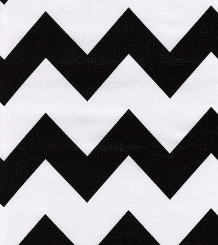 Black Chevron Oilcloth By The Yard