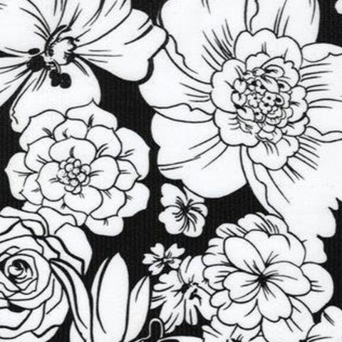 Black Chantilly Oilcloth Fabric