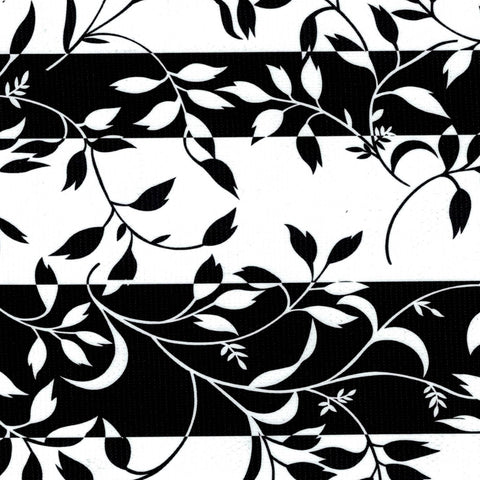 Black Spanish Vines Oilcloth Fabric