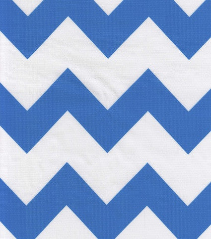 Blue Chevron Oilcloth By The Yard