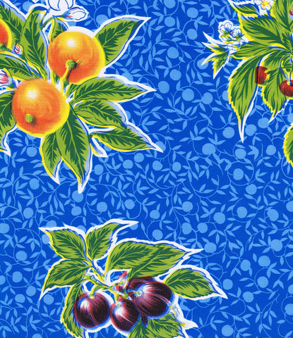 Blue Summer Fruit Oilcloth