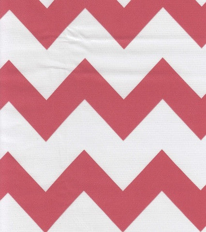 Coral Chevron Oilcloth By The Yard