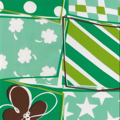 Green Quilt Oilcloth Fabric