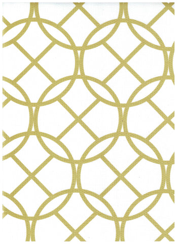 Gold Art Deco Oilcloth Fabric