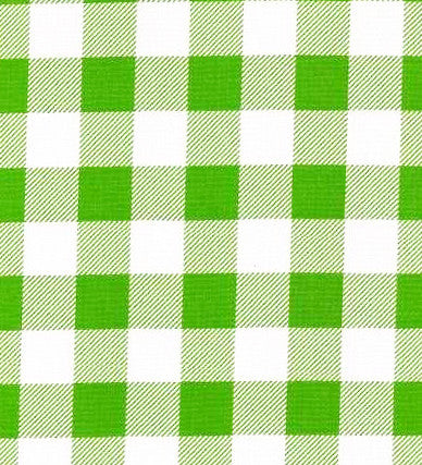 Lime Green Cafe Check Oilcloth Fabric