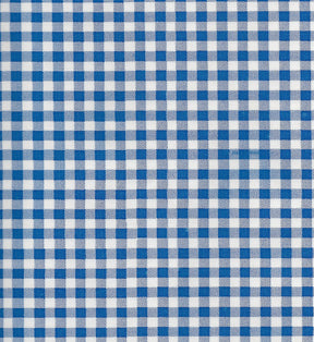 Blue Gingham Oilcloth Fabric