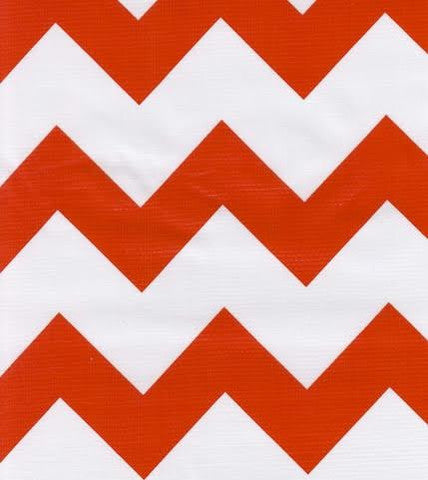 Orange Chevron Oilcloth By The Yard
