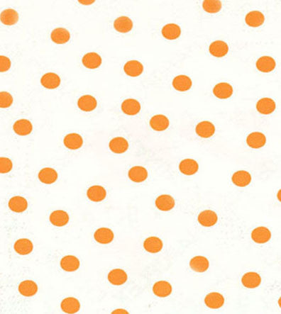 Orange Polka Dot Oilcloth Fabric