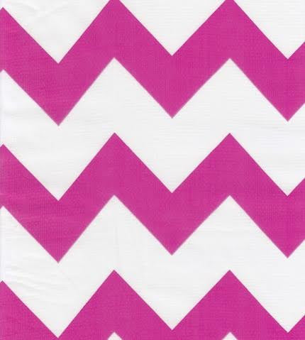 Pink Chevron Oilcloth By The Yard