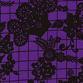 Purple Day of the Dead Oilcloth Fabric