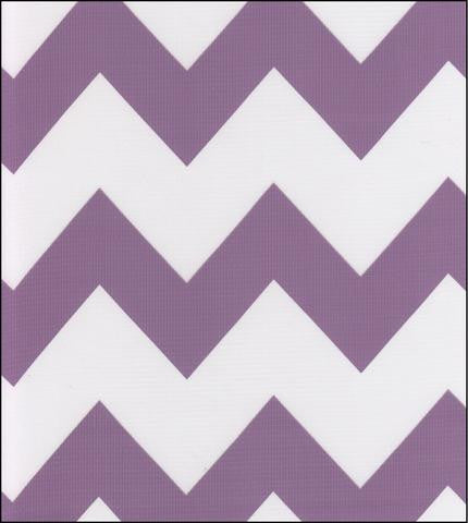 Purple Chevron Oilcloth Fabric