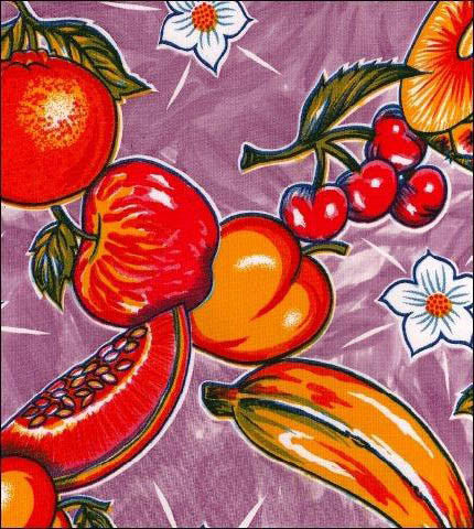 Purple Tropical Splash Oilcloth Fabric