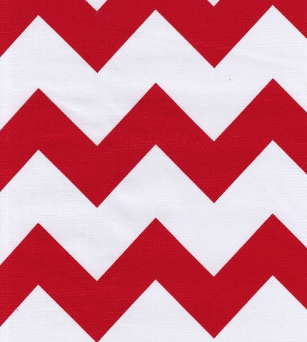 Red Chevron Oilcloth By The Yard