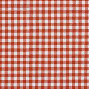 Red Gingham Oilcloth Fabric