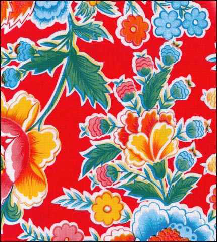 Red Fantasy Oilcloth Limited Stock !