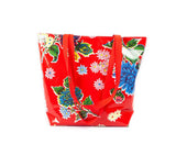 Reversible Oilcloth Totebag - Red Mum