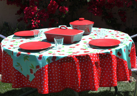 Round Cherry Table Cloths 5 8 Ybonlineacess De