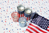Round 4th of July Stars Oilcloth Tablecloth