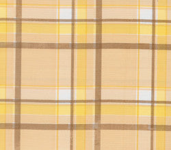 Brown and Yellow Tartan Oilcloth Fabric