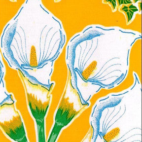 Yellow Calla Lily Oilcloth Fabric